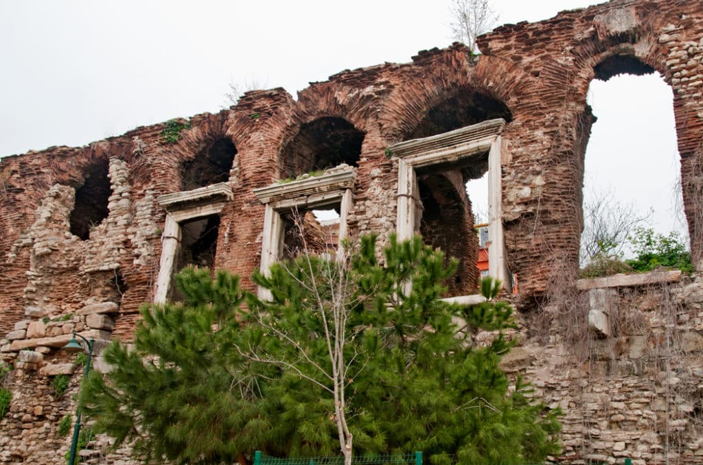 The last remnants of Bucoleon Palace of Constantinople