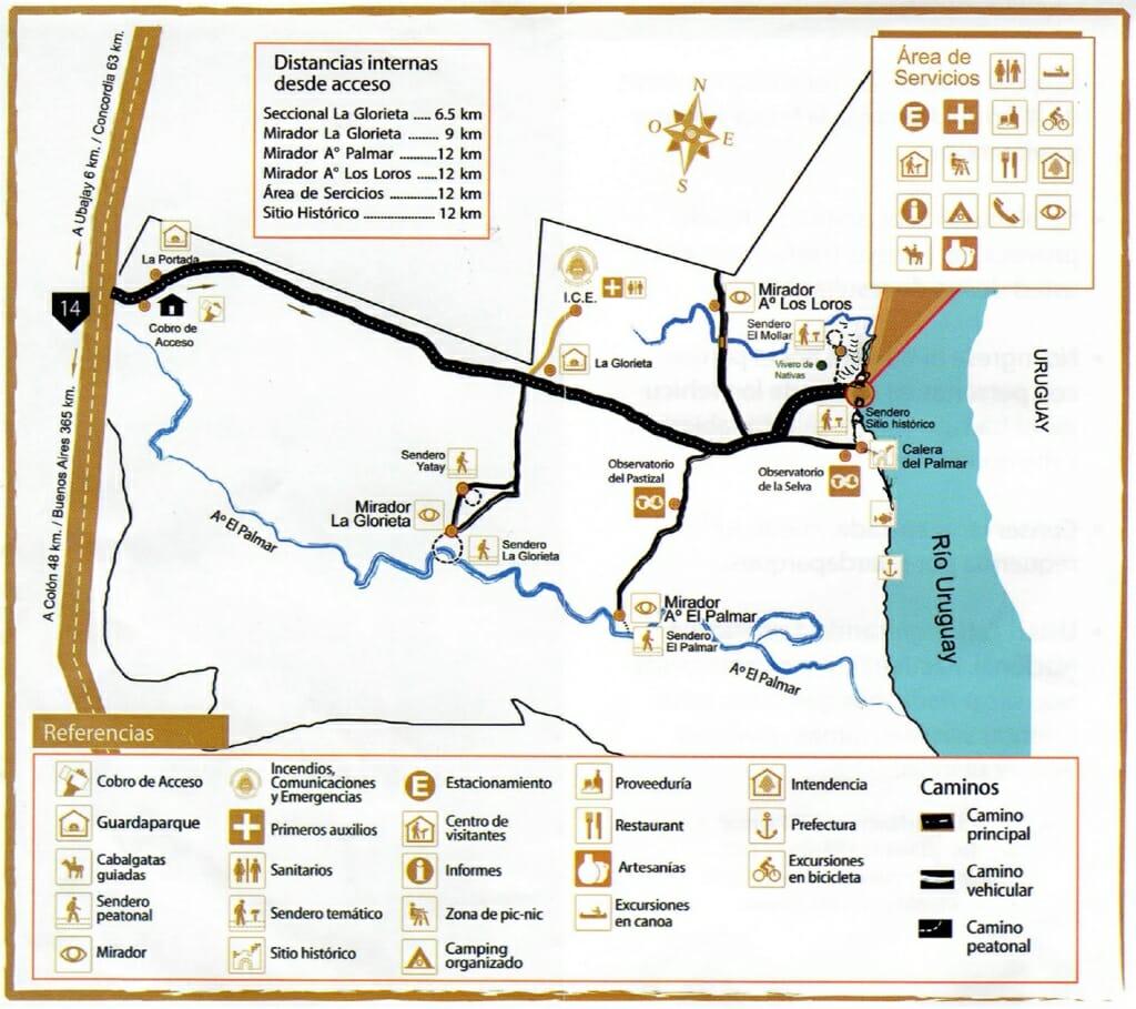 El Palmar Entre Rios map