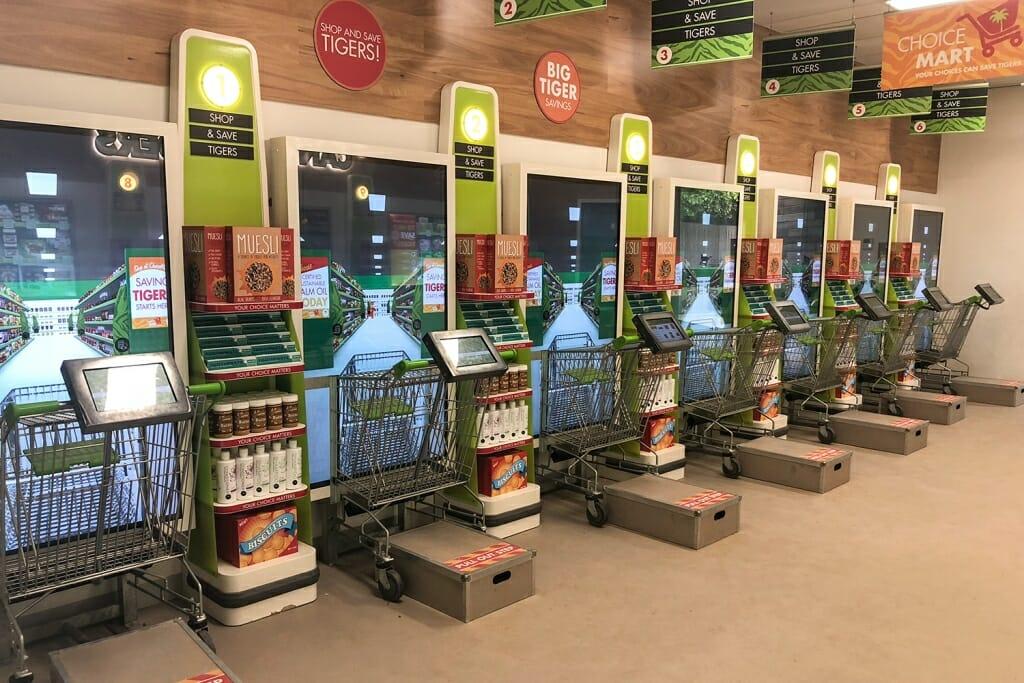 Supermarket at Tiger Trek exhibit Tarong Zoo Sydney