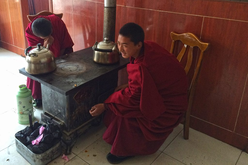 Tibetan novice monks