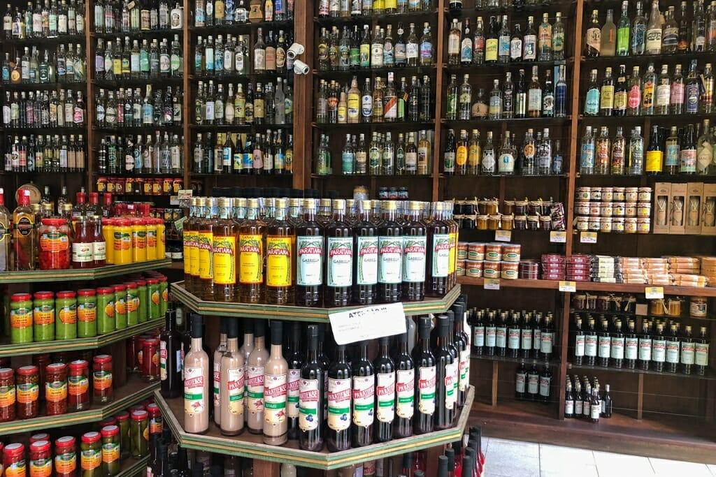 Cachaca shop in Paraty, RJ