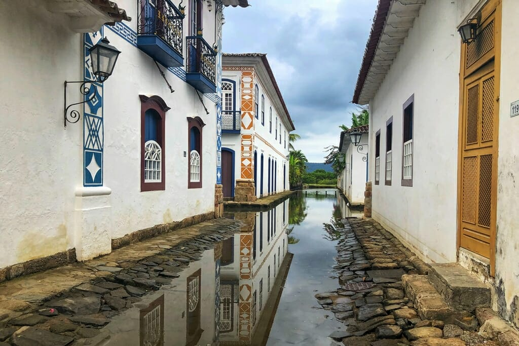 Flooded streets of Paraty