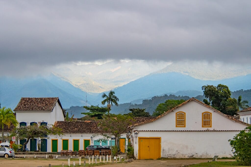 Rain clouds over Paraty