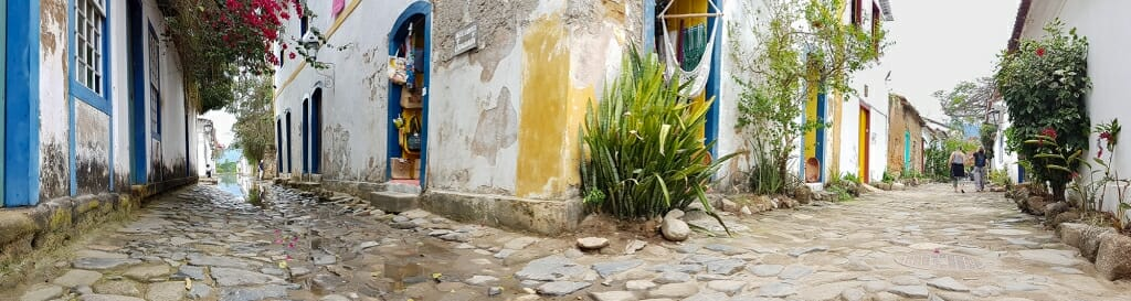 Old streets in the historic center of Paraty