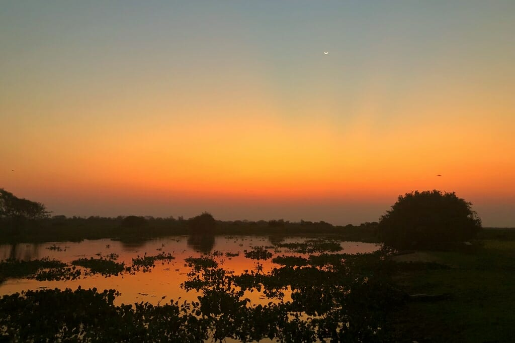 Sunset at Pousada Piuval