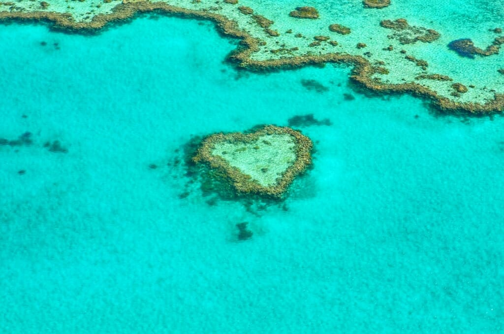 Heart Reef at Great Barrier Reef