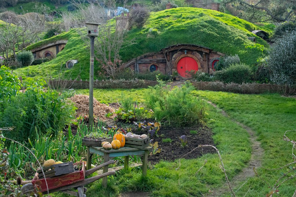 Hobbit's hole in Hobbiton