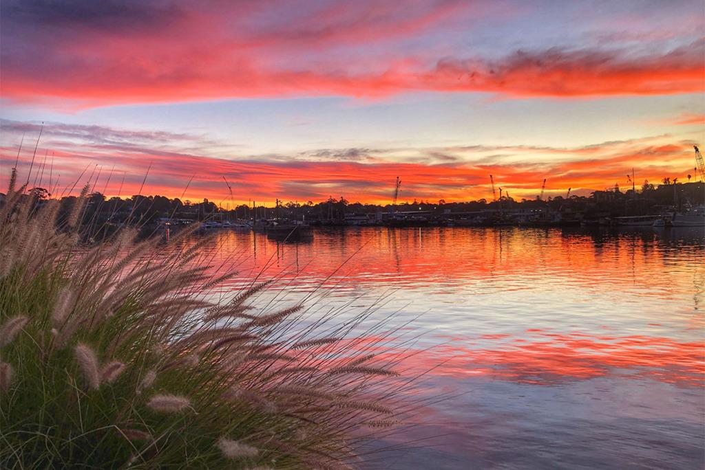 Fiery sunset in Sydney