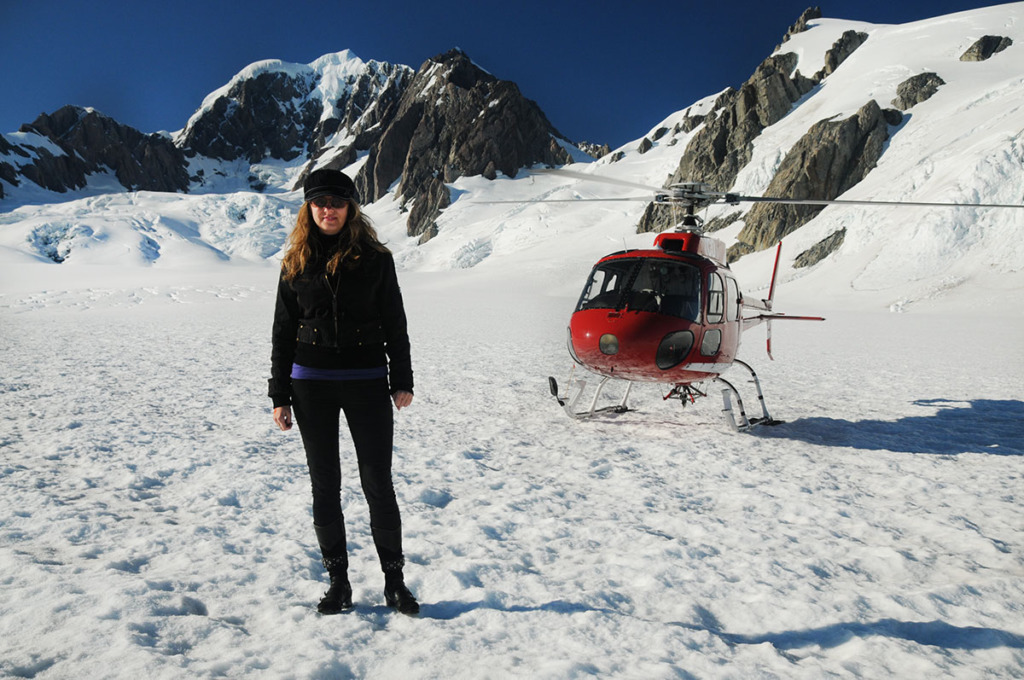 Fox Glacier to Lake Pukaki trip: Helicopter flight to the top of fox glacier