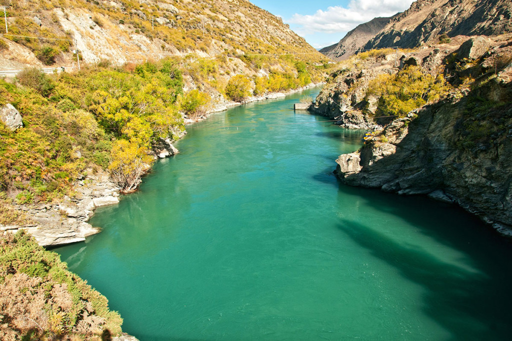 Kawarau gorge on Lake Pukaki to Glenorchy road trip