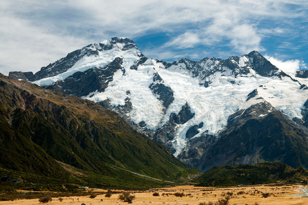 Mt Cook National Park approach