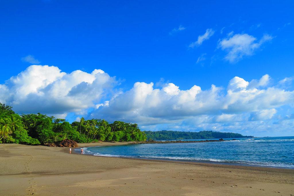 Deserted beach in Drake Bay