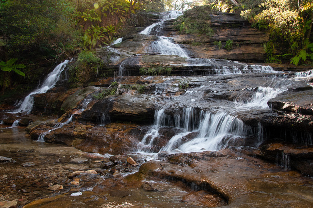 Katoomba cascades along Echo Point to Scenic World walk