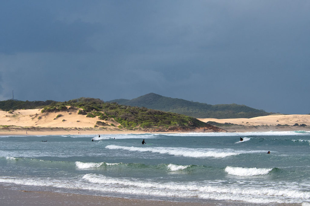 visiting One mile beach is one of the fun things to do in Anna Bay