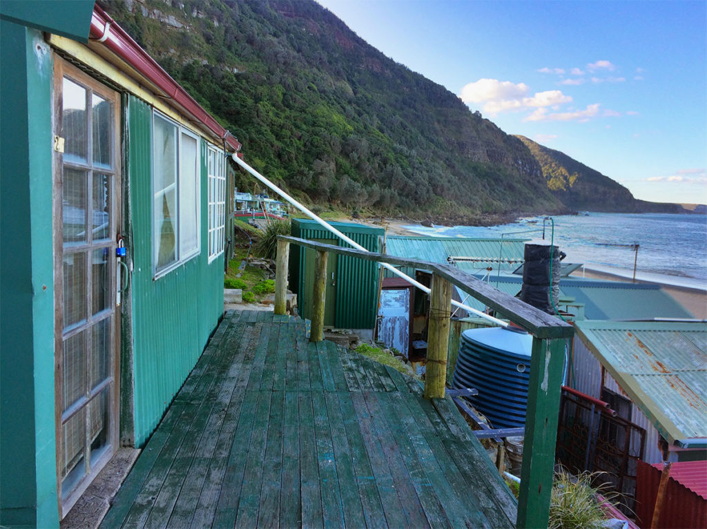 Bulgo beach shacks