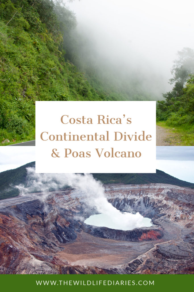 Costa Rica's Continental Divide and Poas Volcano