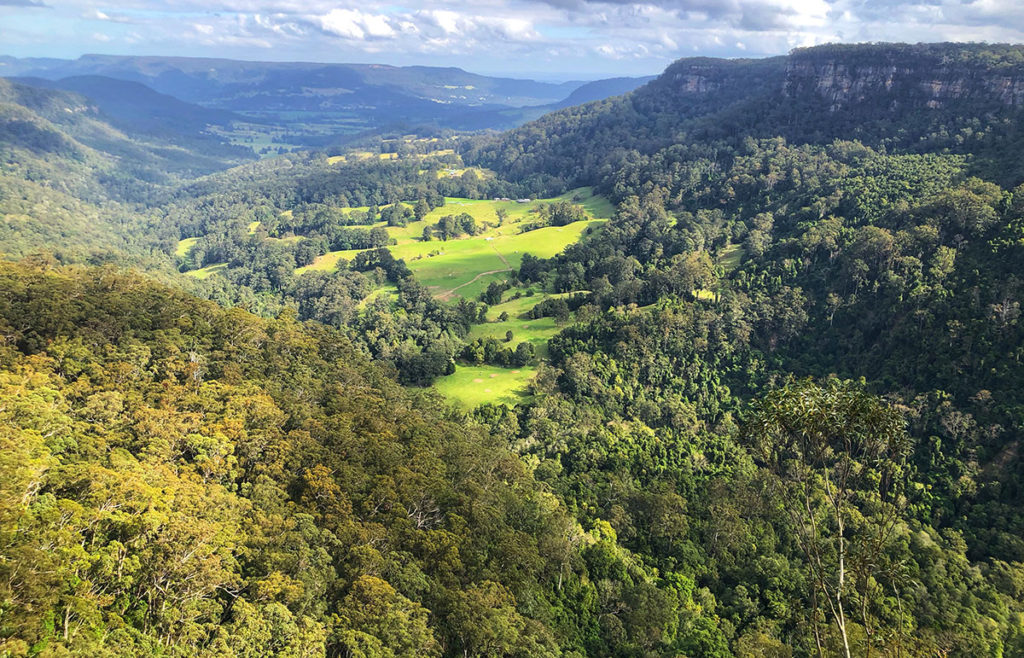 View of Kangaroo Valley from Belmore Falls