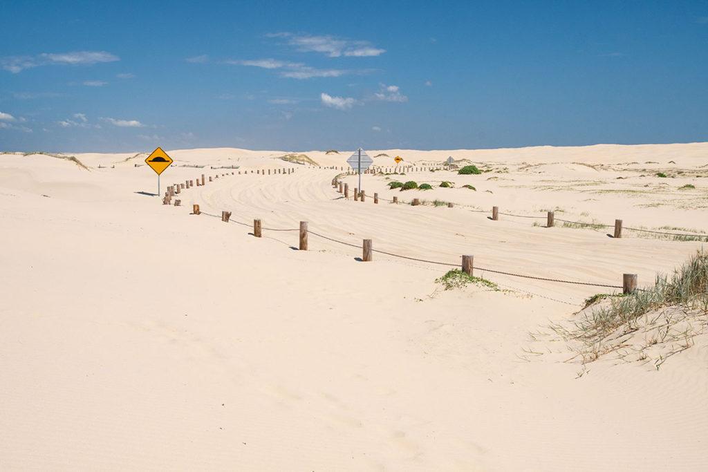4WD track on Port Stephens sand dunes