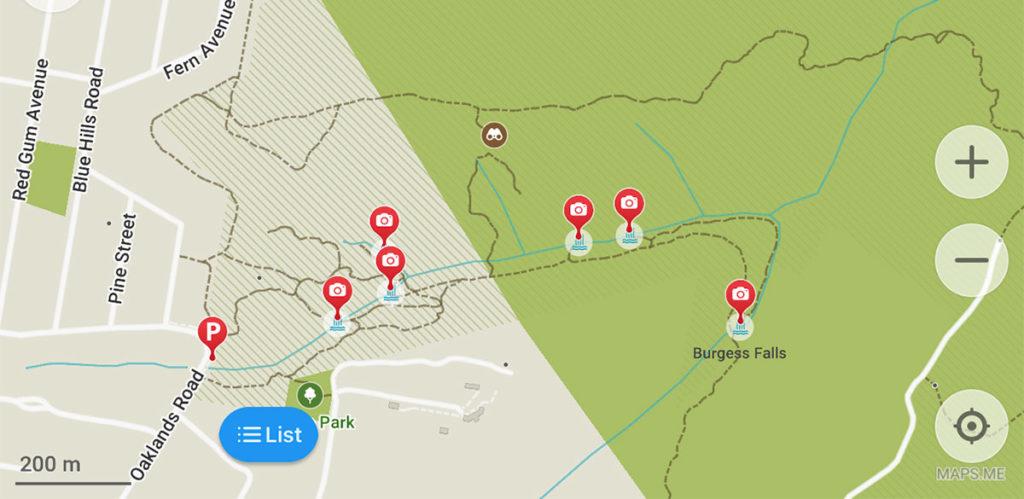 Horseshoe walking track map