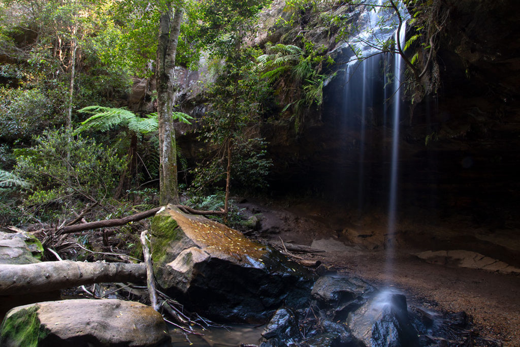 Horseshoe falls in Hazelbrook