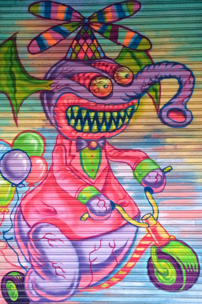 Funky mural in Little Italy