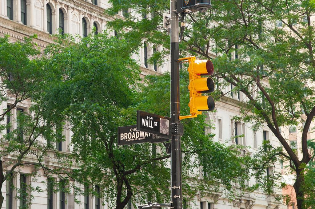 Street sign in downtown Manhattan