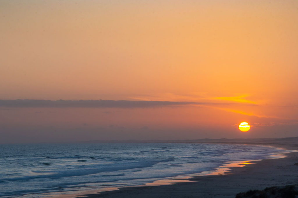 Sunset on Stockton beach