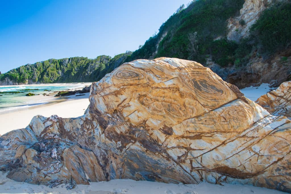 rock formation on narooma beach