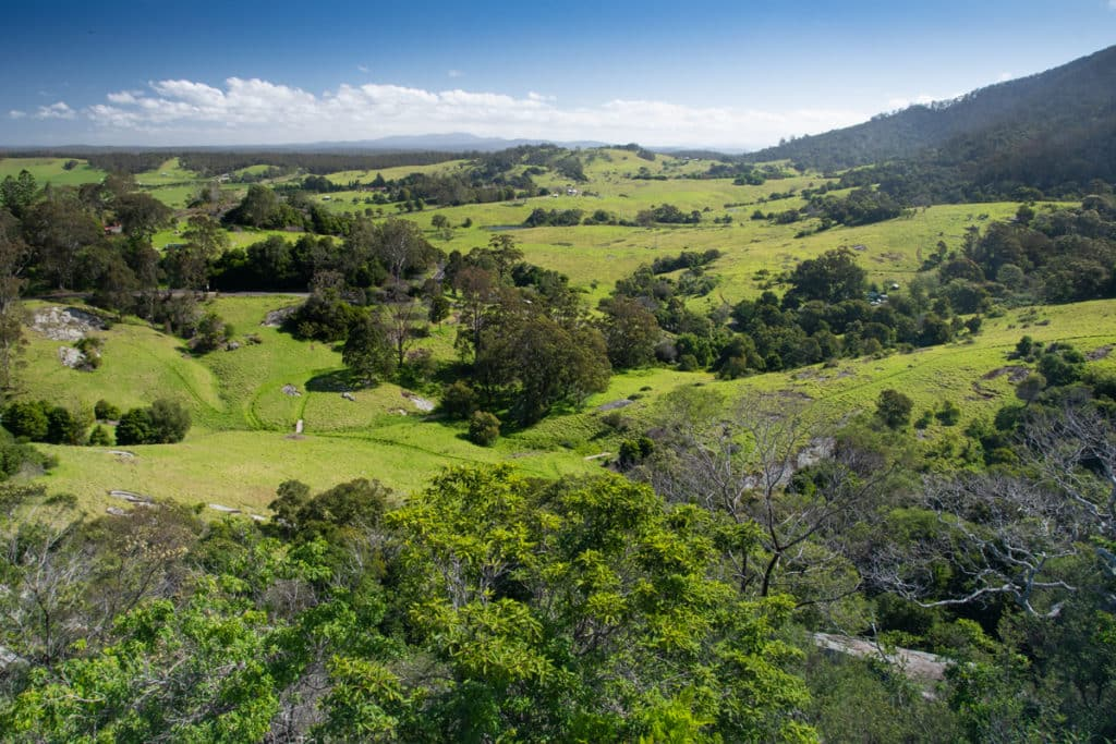 View from Water Tower Lookout in Central Tilba