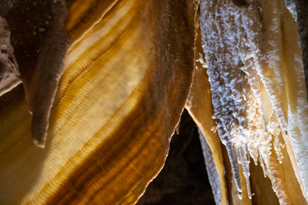 Shawl formation in Orient Cave at Jenolan Caves