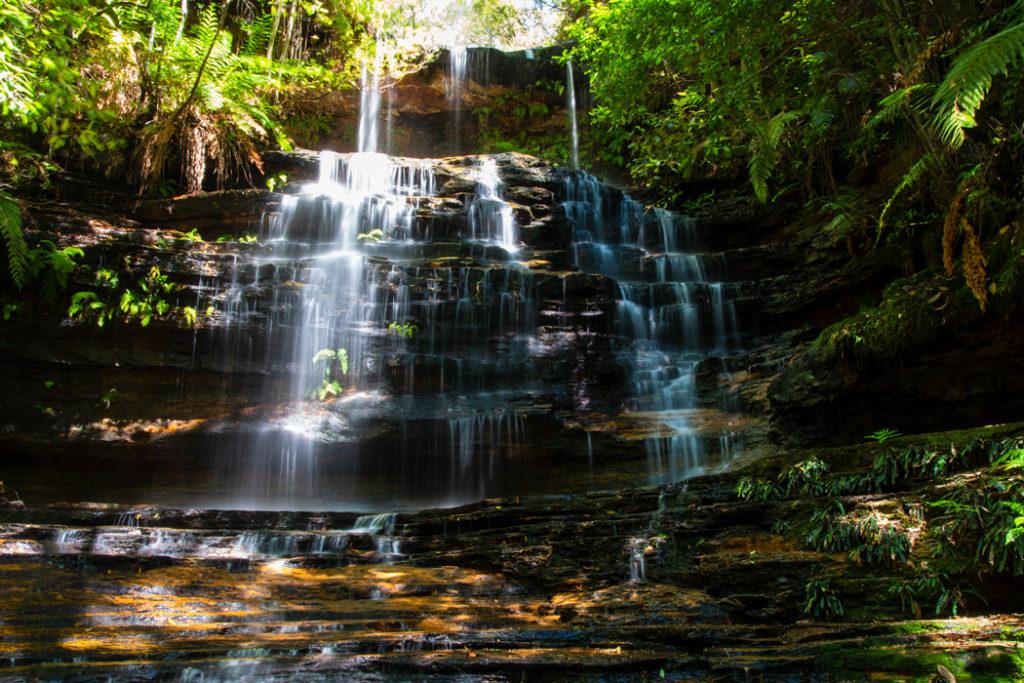 Junction Falls along South Lawson Waterfall Circuit Walk