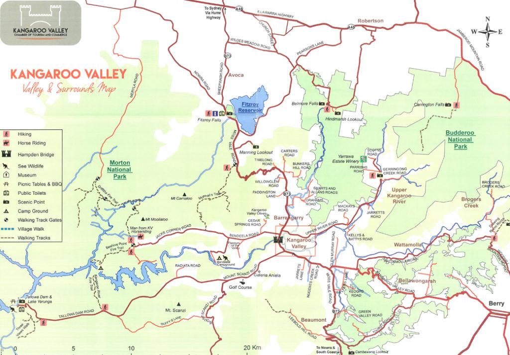 map of kangaroo valley
