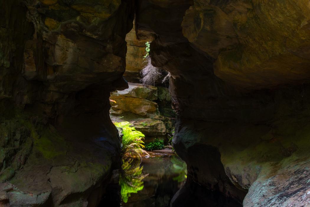 Walls Cave canyon