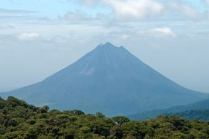 View of Arenal volcano from Monteverde National Park